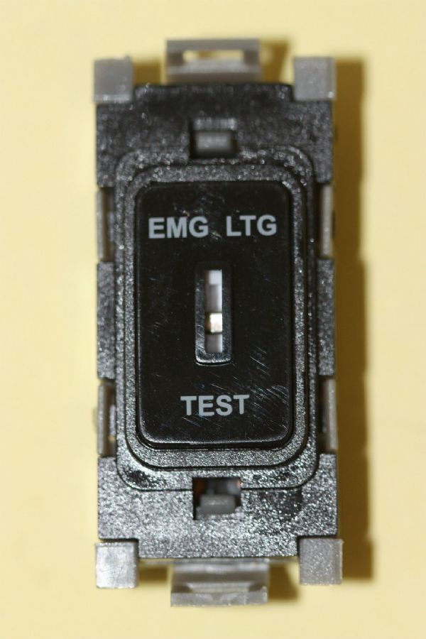 Deta Gridswitch G3538BK 20a Double Pole Grid Key Switch Module Emg Lt Test  New